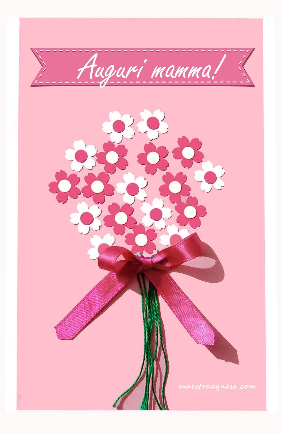 Estremamente Biglietto con i fiori per la festa della mamma WC42