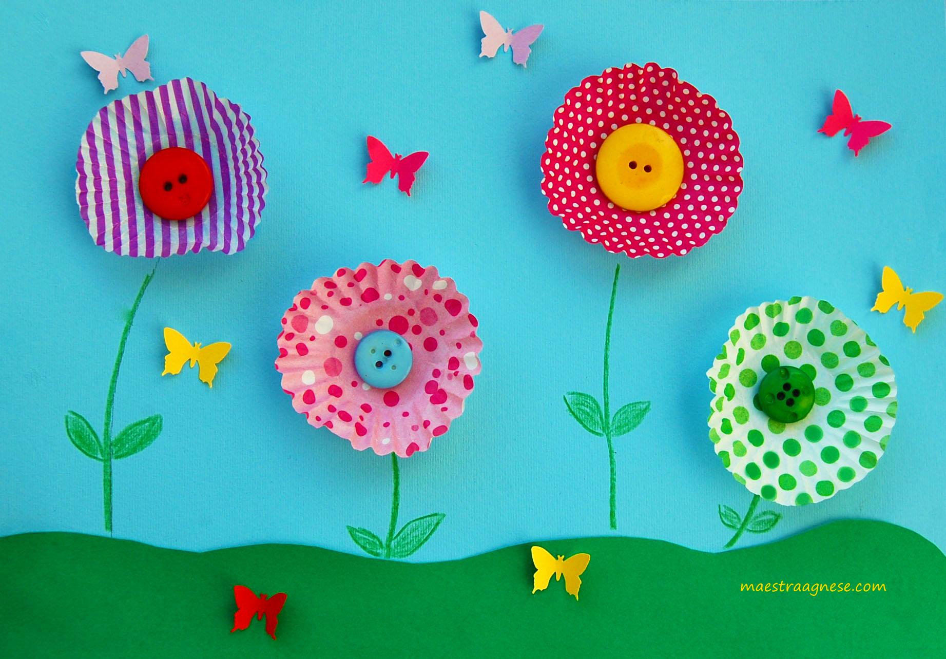 Fiori con materiale di riciclo wx42 pineglen for Lavoretti di primavera